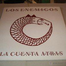 Discos de vinilo: LOS ENEMIGOS LP LA CUENTA ATRÁS GASA ORIGINAL ESPAÑA 1991. Lote 46738705