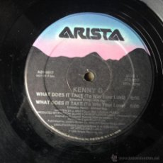 Discos de vinilo: KENNY G - WHAT DOES IT TAKE (TO WIN YOUR LOVE) . MAXI SINGLE . 1986 ARISTA US - AD1-9517 . Lote 46742224