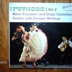 Discos de vinilo: FURIOSO VOL 2 - MARIO ESCUDERO, DIEGO CASTELLON, SABICAS Y ENRIQUE MONTOYA . Lote 46753251