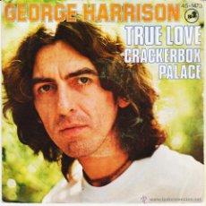 Discos de vinil: GEORGE HARRISON - TRUE LOVE - CRACKERBOX PALACE - SG SPAIN 1977 VG++ / EX. Lote 46753842