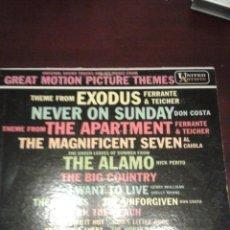 Discos de vinilo: GREAT MOTION PICTURE THEMES EDITADO EN USA 1960. Lote 46758797
