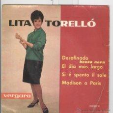 Discos de vinilo: LITA TORELLÓ. DESAFINADO. EL DIA MAS LARGO. VERGARA 1962. EP. Lote 46764169