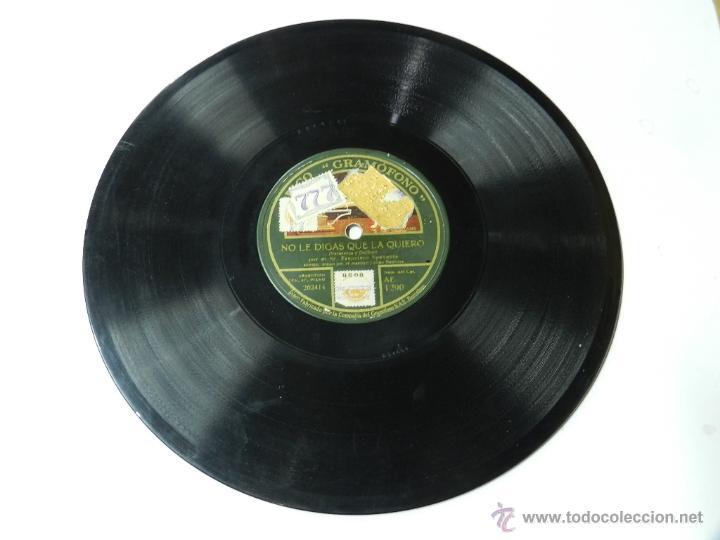 Discos de vinilo: Disco de pizarra Francisco Spaventa, No le digas que la quiero / ¡pobre viejecita!, La voz de su amo - Foto 2 - 46766021