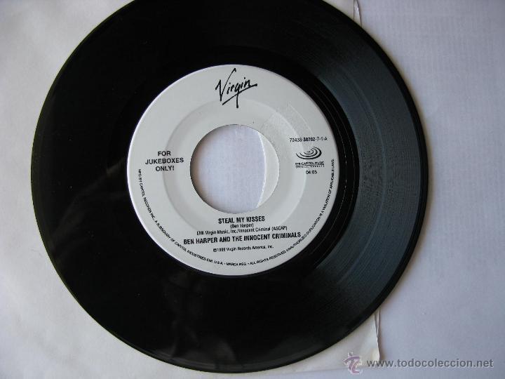 BEN HARPER AND THE INNOCENT CRIMINALS. STEAL MY KISSES/BURN TO SHINE. SINGLE. 1999. VIRGIN. (Música - Discos - Singles Vinilo - Pop - Rock Extranjero de los 90 a la actualidad)
