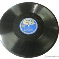 Discos de vinilo: DISCO DE PIZARRA DE LA ORQUESTA ANDRÉS MOLTÓ, CARAMBA / MARIQUITA. CORRIDO MEJICANO. REGAL C8530, BU. Lote 46767794