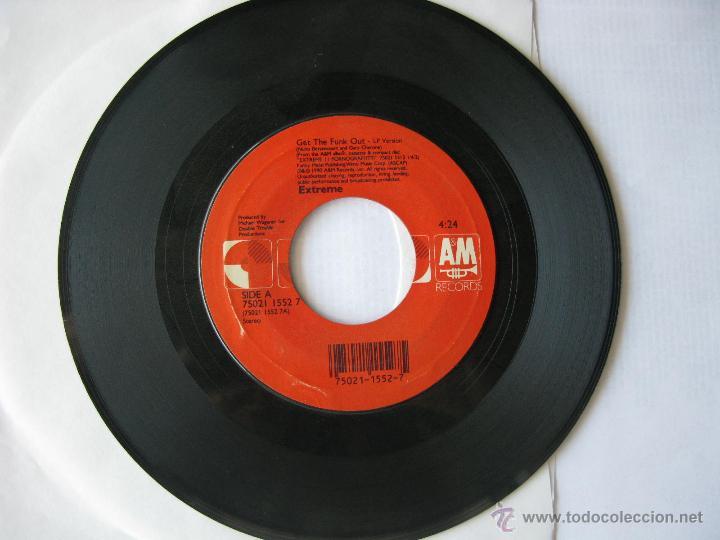 EXTREME. GET THE FUNK OUT/MORE THAN WORDS (REMIX). SINGLE. 1990. A&M RECORDS. U.S.A. (Música - Discos - Singles Vinilo - Pop - Rock Extranjero de los 90 a la actualidad)