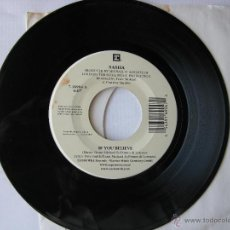 Discos de vinilo: SASHA. IF YOU BELIEVE/IF YOU BELIEVE (LENNY B. RADIO REMIX). SINGLE. 1998. WEA RECORDS. U.S.A. . Lote 46769256