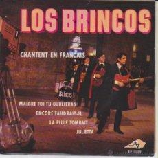 Discos de vinilo: LOS BRINCOS - ( SING IN FRENCH ) MALGRET TOI TU OUBLIERAS + 3 EP FRANCE ( FRANCIA ) VG++ / EX. Lote 46771404