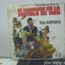 Discos de vinilo - THE VENTURES - EL HOMBRE DE LA PISTOLA DE ORO / AEROPUERTO 1975 - UA 1975 - 46774162