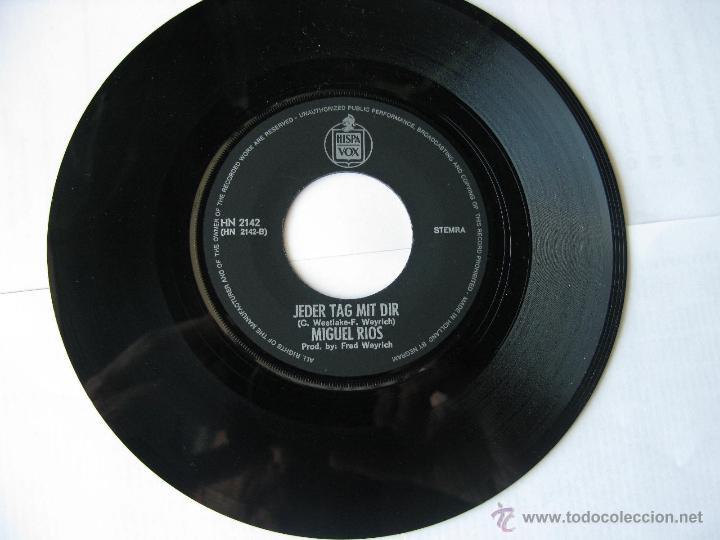 Discos de vinilo: MIGUEL RIOS. Sonnenschein Und RegenBogen/Jeder Tag Mit Dir. Single. Made in Holland.Hispavox HN 2142 - Foto 3 - 46774359