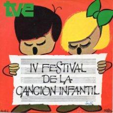 Discos de vinilo: FESTIVAL DE LA CANCION INFANTIL - CELIA, SG, LA ORQUESTA + 1, AÑO 1970. Lote 46783306