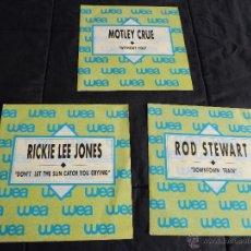 Discos de vinilo: MOTLEY CRUE, RICKIE LEE JONES, ROD STEWART. Lote 46785047