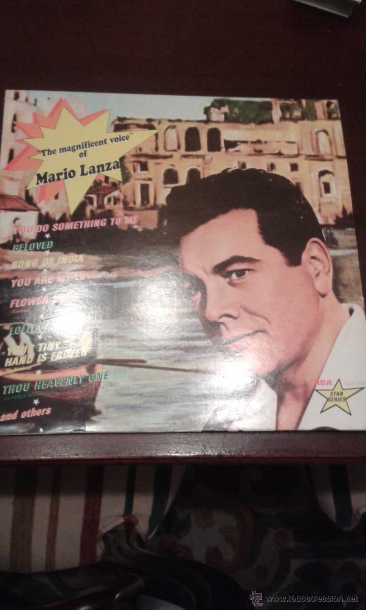 THE MAGNIFICENT VOICE OF MARIO LANZA EDITADO EN FRANCIA (Música - Discos - LP Vinilo - Clásica, Ópera, Zarzuela y Marchas)