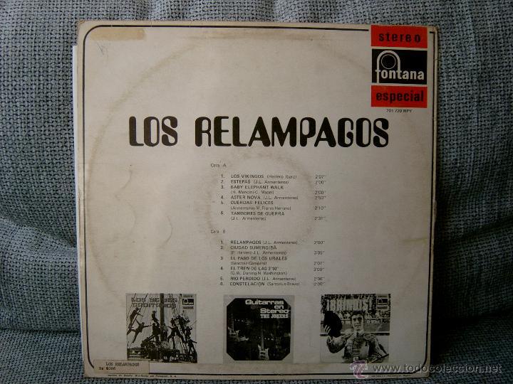 Discos de vinilo: LOS RELAMPAGOS FONTANA 1969 - Foto 2 - 46790296