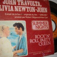 Discos de vinilo: JOHN TRAVOLTA Y OLIVIA NEWTON JOHN SUMER NIGHTS DE LA PELICULA GREASE. Lote 46792489