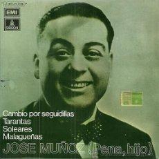 Discos de vinilo: JOSE MUÑOZ, PENA HIJO EP SELLO EMI-ODEON AÑO 1973. Lote 46792512