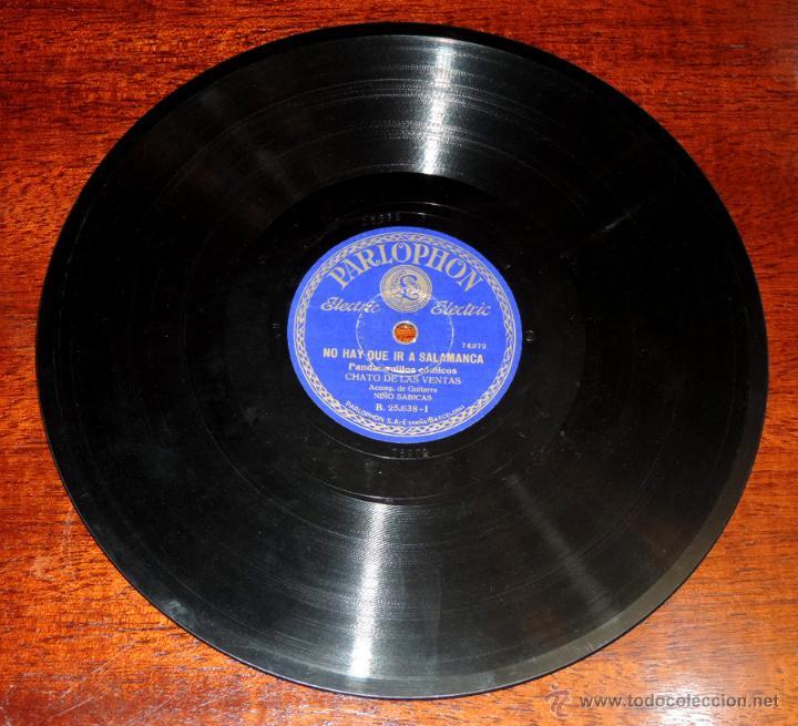 Discos de vinilo: CHATO DE LAS VENTAS, 75 RPM. PARLOPHON B. 25.638, ACOMP. DE GUITARRA NIÑO SABICAS, NO HAY QUE IR A S - Foto 4 - 46798222