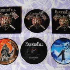 Discos de vinilo: HAMMERFALL THE VINYL SINGLE COLLECTION BOX SET. Lote 46833774
