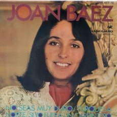 Discos de vinilo: JOAN BAEZ / NO SEAS DURO / NORTE / TURQUESA / SI YO FUERA CARPINTERO (EP 1968). Lote 46862200