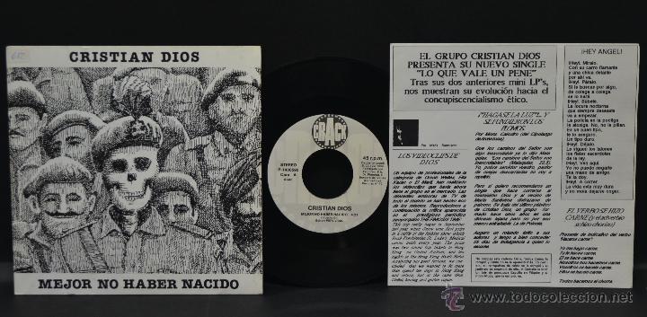 VINILO - CRISTIAN DIOS - MEJOR NO HABER NACIDO (Música - Discos - Singles Vinilo - Otros estilos)