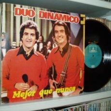 Discos de vinilo: DUO DINAMICO LP MEJOR QUE NUNCA EMI ODEON 1982 GRABADO EN LONDRES SPAIN NUEVO. Lote 46878206