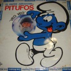 Discos de vinilo: LOS PITUFOS VEO VEO CON EL PADRE ABRAHAM. Lote 48123278