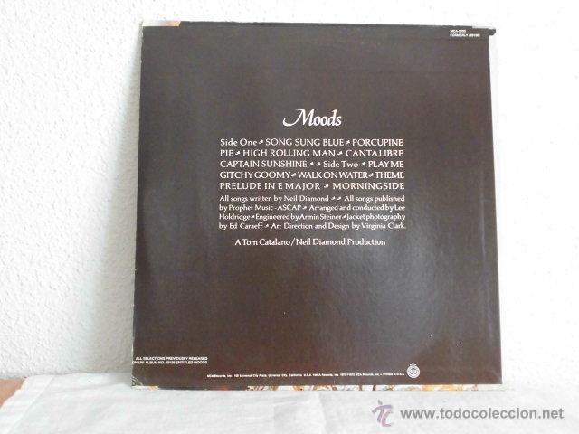 Discos de vinilo: NEIL DIAMOND-LP-MOODS-EDICION USA - Foto 2 - 46901270