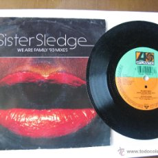 Dischi in vinile: SISTER SLEDGE. WE ARE FAMILY (SURE IS PURE REMIX)/WE ARE FAMILY(ORIGINAL) 1992 ATLANTIC 8122-74508-7. Lote 46903184