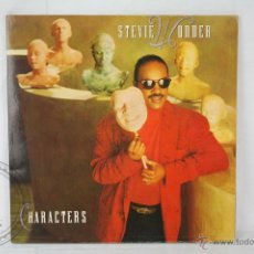 Discos de vinilo: DISCO LP VINILO - STEVIE WONDER. CHARACTERS - MOTOWN RECORDS - ESPAÑA 1987. Lote 46906546