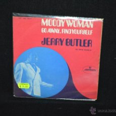 Disques de vinyle: JERRY BUTLER - MOODY WOMAN +1 - SINGLE. Lote 46906940