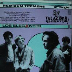 Discos de vinilo: LOS ELEGANTES - SOY TREMENDO - EDICIÓN DE 1985 DE ESPAÑA - MAXI-SINGLE PROMOCIONAL. Lote 46917373