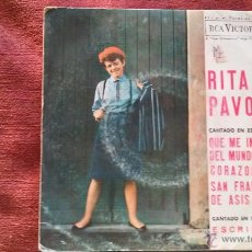 Discos de vinilo: RITA PAVONE CANTANDO EN ESPAÑOL SINGLE 1964. Lote 46922142