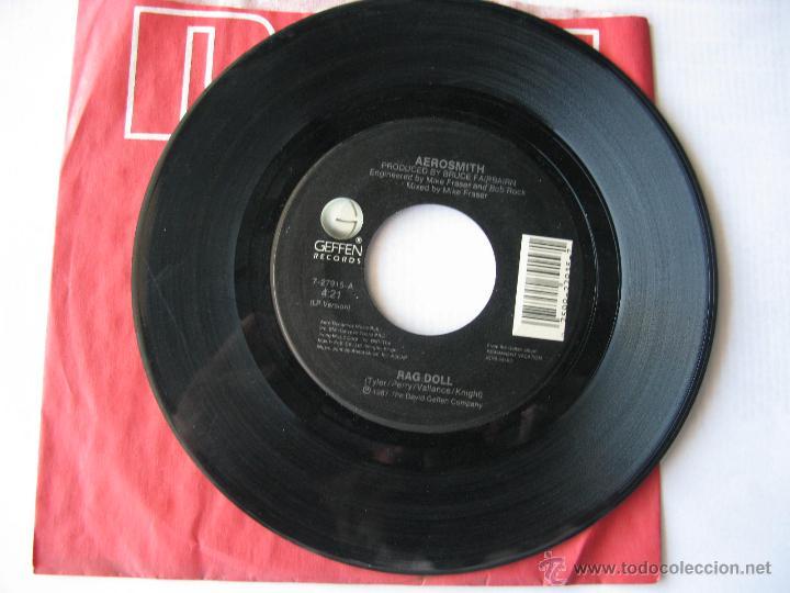 AEROSMITH. RAG DOLL/ST. JOHN. 1987 SINGLE U.S.A. GEFFEN RECORDS 7-27915 (Música - Discos - Singles Vinilo - Pop - Rock Extranjero de los 90 a la actualidad)