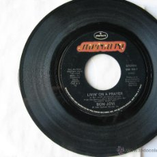 Discos de vinilo: BON JOVI. LIVIN' ON A PRAYER/WILD IN THE STREETS. 1986 SINGLE U.S.A. MERCURY 888 184-7. Lote 46923578
