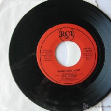 Discos de vinilo: JO-EL SONNIER. RAININ' IN MY HEART/ BABY HOLD ON. 1987 U.S.A. SINGLE RCA 8726-7-R. Lote 46923670
