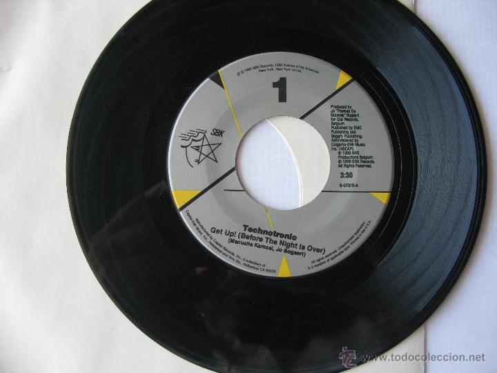 TECHNOTRONIC. GET UP!/RAW. 1990 SINGLE U.S.A. SBK RECORDS B-07315 (Música - Discos - Singles Vinilo - Pop - Rock Extranjero de los 90 a la actualidad)