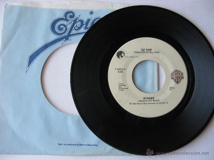 ZZ TOP. STAGES/CAN'T STOP ROCKIN'. 1985 SINGLE U.S.A. WARNER BROS RECORDS 7-28810 (Música - Discos - Singles Vinilo - Pop - Rock Extranjero de los 90 a la actualidad)