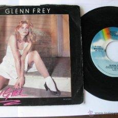 Discos de vinilo: GLENN FREY. SEXI GIRL/BETTER IN THE U.S.A. 1984 SINGLE U.S.A. MCA RECORDS MCA-52413. Lote 46924601