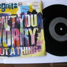 Discos de vinilo: INCOGNITO. DON'T YOU WORRY 'BOUT A THING/B. COLIBRI. 1992 SINGLE U.K. TALKIN LOUD TLK 21. Lote 46924642