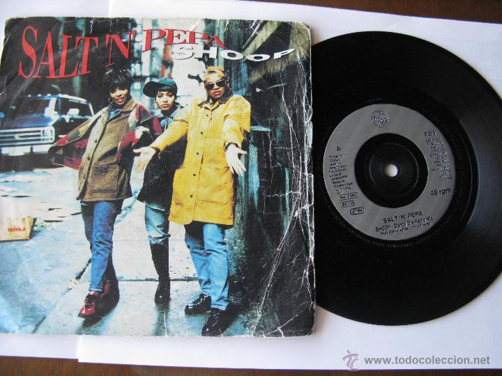 SALT 'N' PEPA. SHOOP-DANNY D'S RADIO MIX/LET'S TALK ABOUT AIDS. 1993 LONDON RECORDS F219 857 316-7 (Música - Discos - Singles Vinilo - Pop - Rock Extranjero de los 90 a la actualidad)