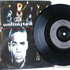 Discos de vinilo: 2 UNLIMITED. FACES(EDIT)/FACES(RAP VERSION). 1993 SINGLE U.K. PWL CONTINENTAL. PWL 268. Lote 46928109