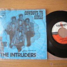 Discos de vinilo: SINGLE CORNET THE INTRUDERS COWBOYS TO GIRLS TEMPREES DRAMATICS BRENDA. Lote 46938813