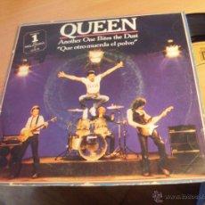 Discos de vinilo: QUEEN (ANOTHER ONE BITES THE DUST ) SINGLE ESPAÑA 1980 (VG+/EX) (EP10). Lote 46942552