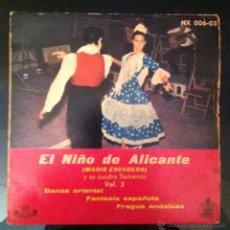 Discos de vinilo: MARIO ESCUDERO - EL NIÑO DE ALICANTE - 1959. Lote 46945704