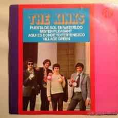 Discos de vinilo: THE KINKS EP - 1967 - PUESTA DE SOL EN WATERLOO + 3 EX / EX. Lote 46951602
