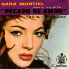 Disques de vinyle: SARA MONTIEL - EP SINGLE VINILO - EDITADO EN FRANCIA - PICHI + 3 - HISPAVOX 1962. Lote 46952282