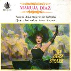 Discos de vinilo: MARUJA DIAZ - EP VINILO 7'' - 4 TRACKS - MARUJITA - LA CASTA SUSANA - EDITADO ESPAÑA - HISPAVOX 1963. Lote 46952312