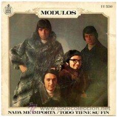 Discos de vinilo: MODULOS - NADA ME IMPORTA. Lote 46953395