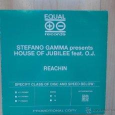Discos de vinilo: STEFANO GAMMA PRESENTS HOUSE OF JUBILEE FEAT O.J PROMOCIONAL. Lote 46960048