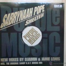 Discos de vinilo: SABRYNAAH POPE SHELTER PURPLE MUSIC. Lote 46960160